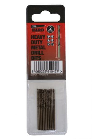 Photo of packet of 10 x 2mm cobalt drill bits by TTP HARD drills