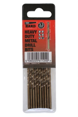 Photo of packet of 10 x 3.3mm cobalt drill bits by TTP HARD drills