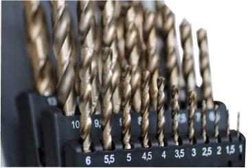 Photo of Cobalt drill set 1mm - 13mm close up