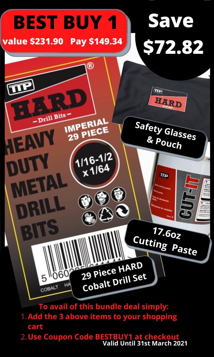 29 piece Cobalt drill bit set special offer